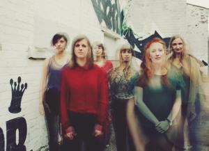 (l-r) Amy Thatcher, Laura-Beth Salter, Olivia Ross, Lillias Kinsman-Blake, Shona Mooney, Rachel Newton